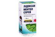 Лiдоксан ментол спрей д/рот порожн 2мг/0,5мг/мл 30мл таблетки від горла