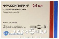 Фраксипарин д/ин 5700 ме aнти-xa шприц 0,6мл №10