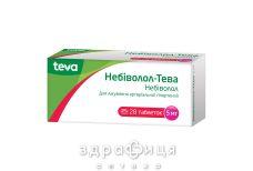 Небiволол-тева таб 5мг №28 (14х2) - таблетки від підвищеного тиску (гіпертонії)