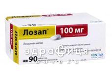 Лозап таб п/о 100мг №90 - таблетки от повышенного давления (гипертонии)