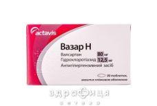 ВАЗАР H ТАБ В/О 80МГ/12,5МГ №90 - таблетки від підвищеного тиску (гіпертонії)