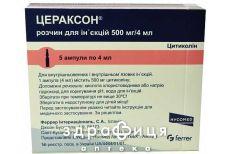 Цераксон р-н д/iн 500мг 4мл №5 таблетки для пам'яті