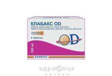 Клабакс od таб п/о 500мг №5 антибиотики