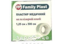 Пластир family plast мед на полiмер основi 1,25х500см