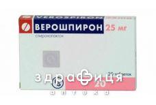 Верошпiрон таб 25мг №20 - сечогінні та діуретики