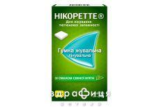 Нікоретте Свіжа м'ята гумка жувальна для лікування тютюнової залежності, по 4 мг 30 шт Таблетки від куріння