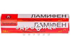 Ламiфен гель 1 % туба 15 г