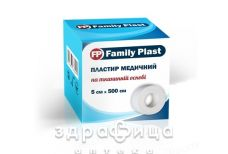 Пластир family plast мед на ткан основi 5х500см бiл
