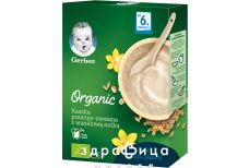 Gerber каша органік пшеніч-вівсян з ваніл смаком 240г