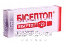 Бiсептол таб 120мг №20 антибіотики