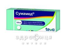 Сумамед табл. в/плiвк. обол. 125 мг №6 антибіотики