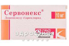 Сервонекс таб п/о 10мг №28 таблетки для памяти