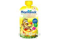 Hame пюре яблуко/персик/банан пауч 120г