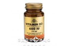 Solgar (Солгар) витамин Д3 600ме капс №60