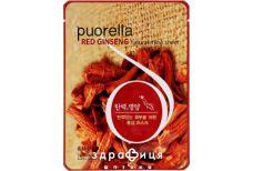 Puorella маска тканевая д/лица красный женьшень