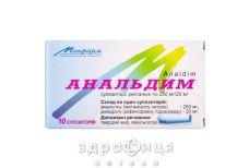 Анальдим суп. ректал. 250 мг/20 мг №10