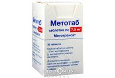 Метотаб таб 7.5мг №30