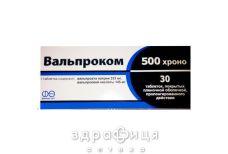 Вальпроком 500 хроно таб в/о №30 таблетки від епілепсії