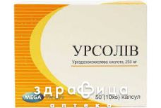 Урсолiв капс 250 мг № 50 блiст(10х5)