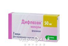 Дифлазон капс. 50 мг №7 - протигрибкові