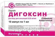 Дигоксин р-н д/iн 0,025% 1мл №10