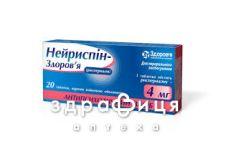 Нейриспiн-здоров'я табл. в/о 4 мг блiстер №20 заспокійливі таблетки