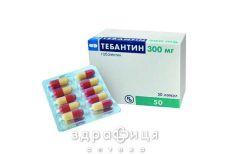 Тебантин капс. 300 мг №50 таблетки від епілепсії