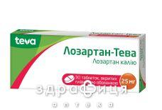 Лозартан-тева таб в/о 25мг №30 - таблетки від підвищеного тиску (гіпертонії)