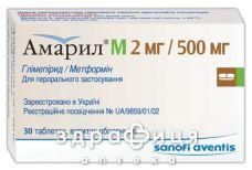Амарил М 2мг/500мг таб п/о №30