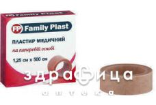 Пластир family plast мед на неткан основ 1,25х500см