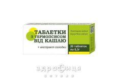 Таблетки с термопсисом №20 отхаркивающие средства, сиропы, таблетки