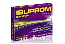 ІБУПРОМ, табл. в/о 200 мг блiстер №10 знеболюючі