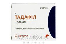 Тадафил таб п/о 10мг №2 для потенції