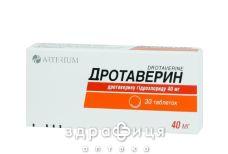Дротаверин таб 40мг №30 спазмолітики, пропульсанти