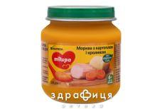 Milupa (Мілупа) пюре м'ясо-овоч моркова картопл/кролік з 6міс 125г