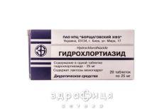 Гiдрохлортiазид таб 25мг №20 - сечогінні та діуретики