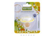 Baby team пустышка вишнеподобной формы с колпач/кольцом латекс светящ ночью 3225