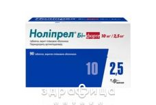 Ноліпрел бі-форте таб в/о №90 - таблетки від підвищеного тиску (гіпертонії)