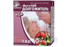 Фиточай ключи здоровья долгожитель 1,5г №20 ушные капли