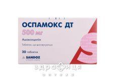 ОСПАМОКС ДТ таб дисперг 500мг №20 антибіотики