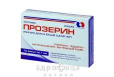Прозерин д/ин 0.05% 1мл №10