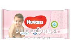 Серветки волог дит huggies soft skin №56х3