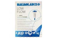 Ланцеты haemolance plus low flow ст 25g глуб прон 1,4 тип 420 №200