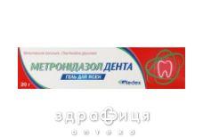 Метронiдазол дента гель д/ясен 20г